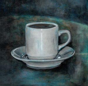 """Christine Lopez Rascol  """"Un café ! Un !"""" Acrylique"""